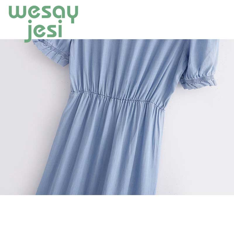 Women Dress summer casual style vestidos solid color v neck Formal dress vintage mid calf Bohemian chic women Dress in Dresses from Women 39 s Clothing