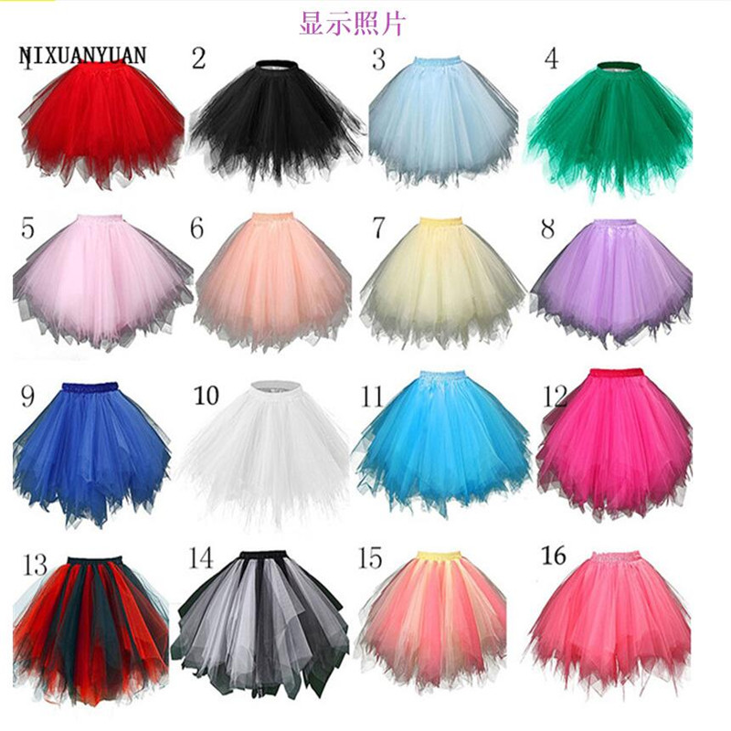 Summer Ladies Fashion Irregular Pleated Skirt Petticoat Retro Skirt Candy Color Swing 50s Rockabilly Skirt Slim Mini Tulle Skirt