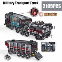 Новые военные игрушки спецназ грузовик фильм Fit Legoings Technic с фигурками строительные блоки кирпичи автомобиль игрушки для детей подарок для д...