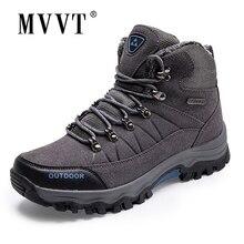 Botas de invierno muy cálidas de piel de ante para hombre, botas de nieve de felpa de piel, zapatos de invierno para exteriores