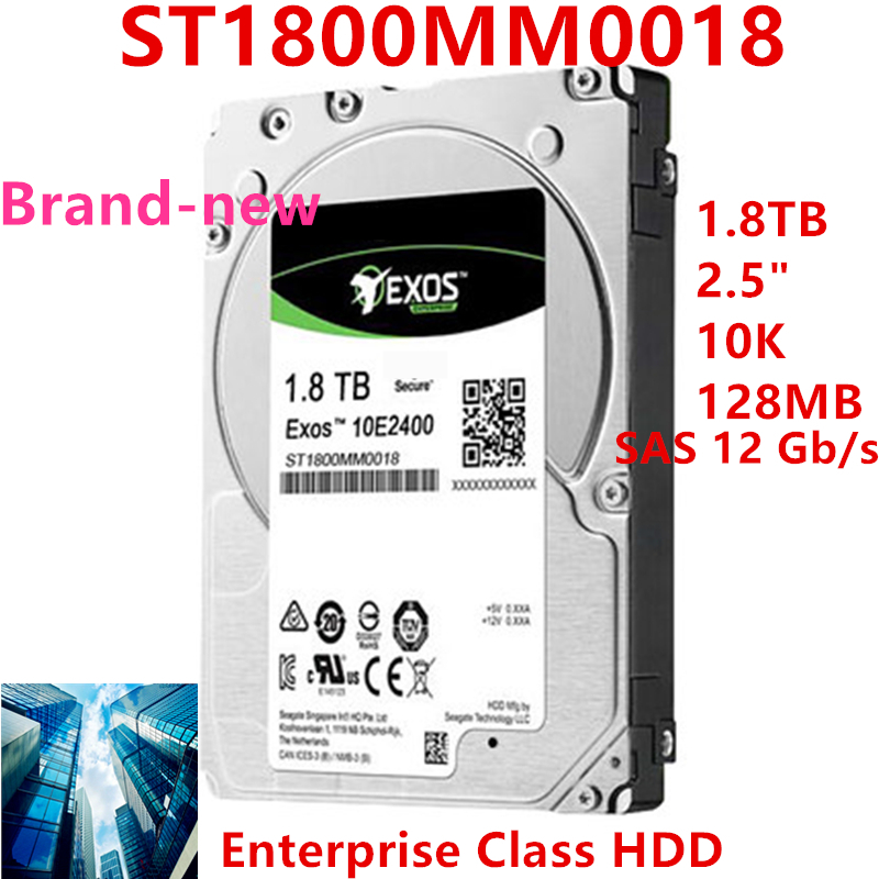 """New HDD For Seagate Brand Exos 1.8TB 2.5"""" SAS 12 Gb/s 128MB 10000RPM For Internal Hard Disk For Enterprise HDD For ST1800MM0018 1"""