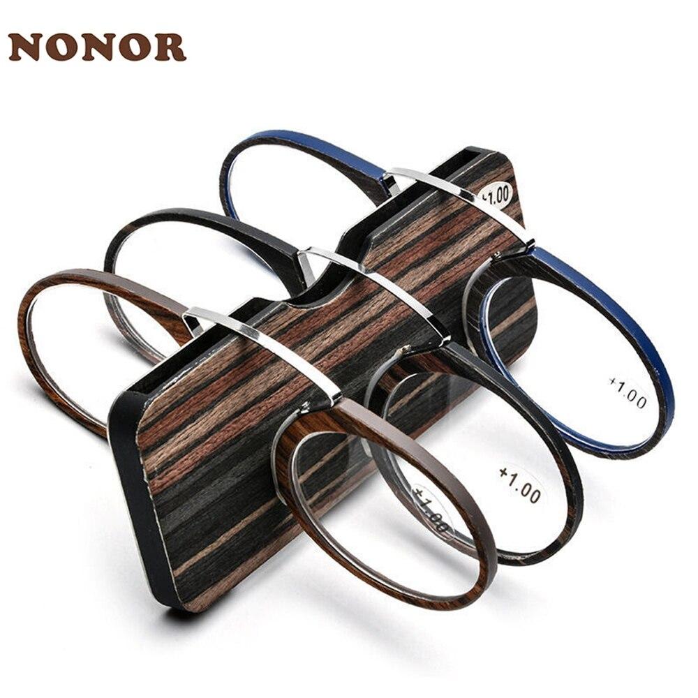 Мужские и женские очки для чтения NONOR, увеличительные очки с клипсой для носа, очки для чтения, портативные пресбиопические очки 1,5 2,0 2,5 3,0 1,0