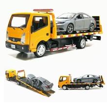 1:32 Масштаб трейлер автомобиль грузовик игрушки модели тракторов платформа сплав трейлер детские игрушки с новой коробкой