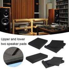 2 pièces éponge Studio moniteur haut-parleur Isolation acoustique mousse isolateur tampons costume pour la plupart des haut-parleurs couleur aléatoire 17x30cm