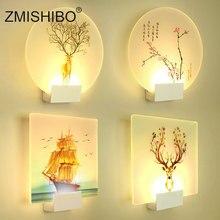 ZMISHIBO מודרני רומנטי קיר מנורה שליד המיטה קישוט פמוט נורדי בית LED תאורה יכול מרחוק Controle תאורת גופי