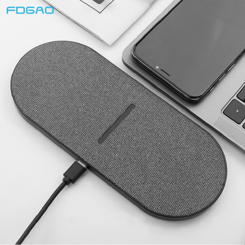 2 in 1 20W Dual Seat Qi Wireless Charger for Samsung S20 S10 Double Fast Charging Pad for IPhone 12 11 Pro XS XR X 8 Airpods Pro|Wireless Chargers|…