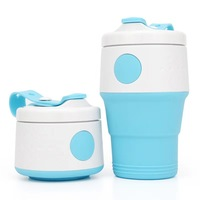 Best selling outdoor sports travel portable non hot creative silicone folding telescopic cup coffee mugs tea water cup wash cup|  -