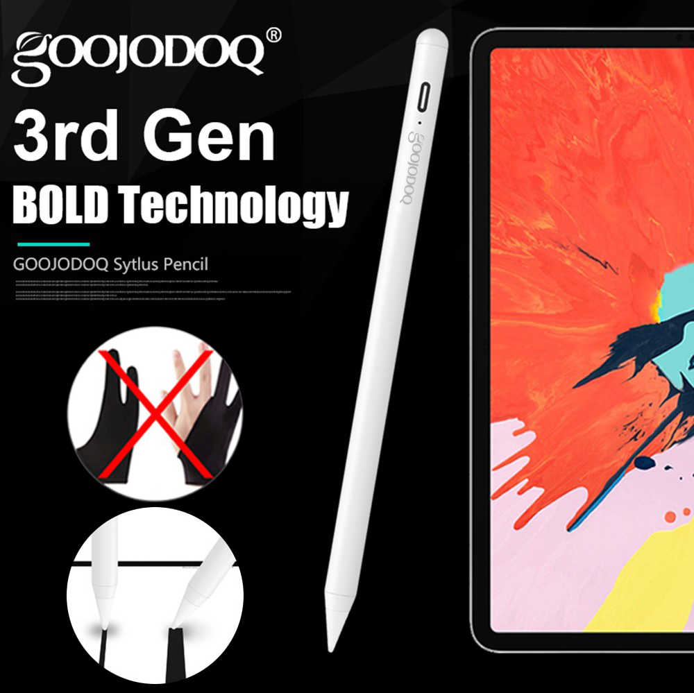 Untuk Apple iPad Pensil Penolakan Sawit Pen Stylus Aktif untuk Apple Pensil 2 Ipad 2018 dan 2019 6th 7th Gen /Pro 3rd Gen Mini 5th