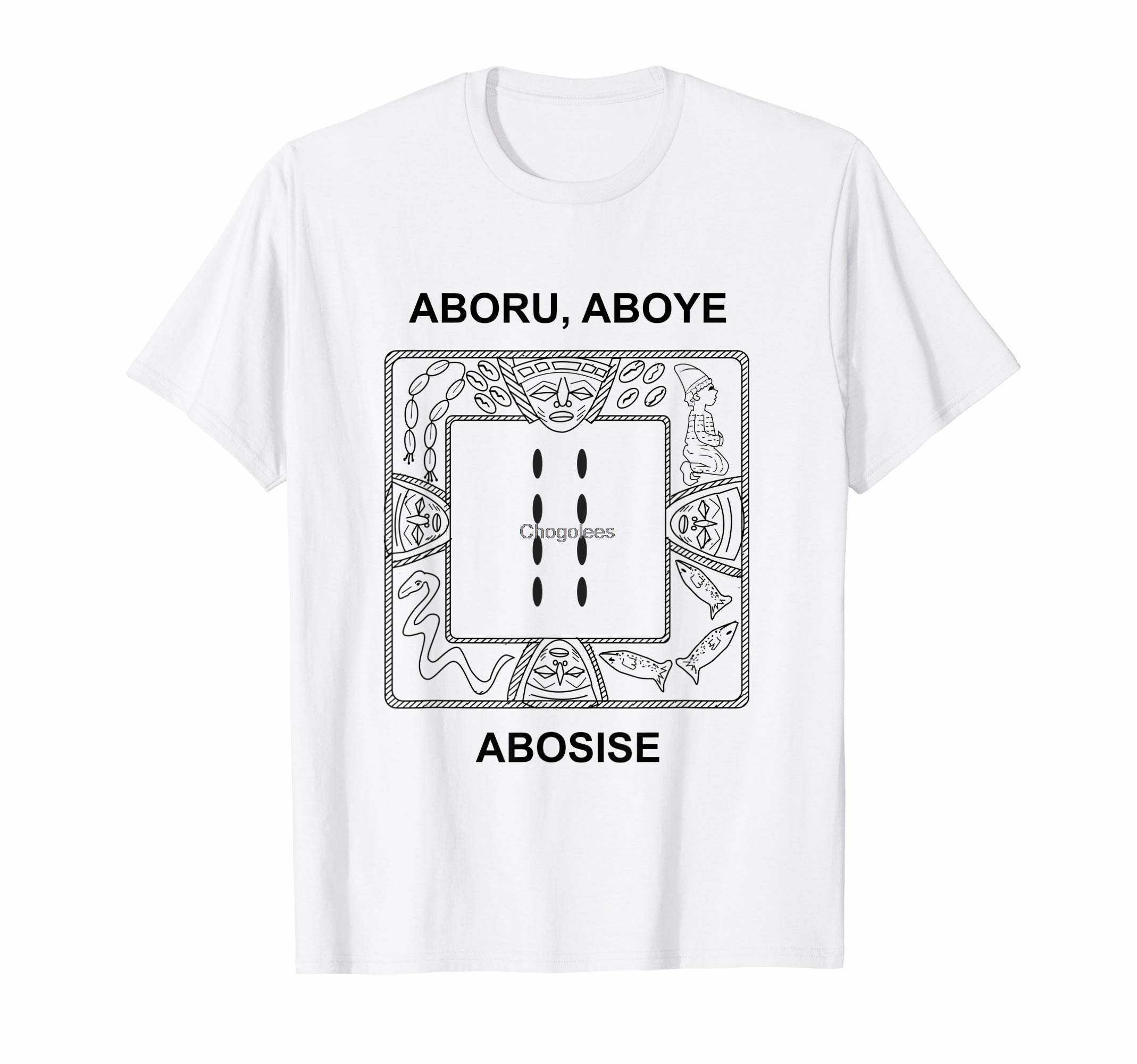 Футболка Eji Ogbe Ifa Aboru Aboye Abosise Yoruba-sq opon