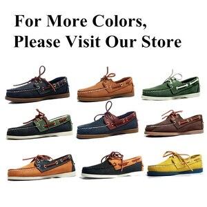 Image 5 - Mężczyźni prawdziwej skóry buty do jazdy samochodem, nowa moda Docksides klasyczny but marynarski, projektowanie marki mieszkania mokasyny dla mężczyzn kobiety 2019A006