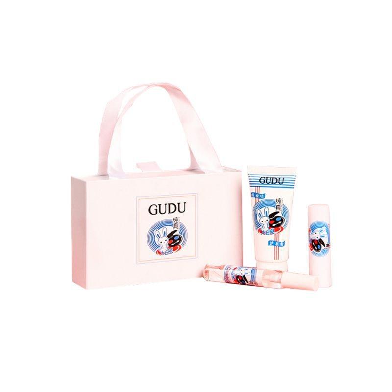 3pcs/set White Rabbit Hand Cream Moisturizing Lip Balm Perfume Gift Pack Sweet Lip Balm For Girlfriend Wife