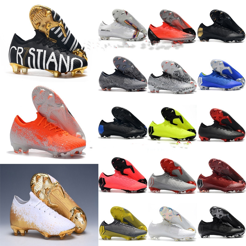 Soccer-Shoes Vapors Football-Boots Fury Cr7 Mercurial FG Elite XII Outdoor VI 360 Men