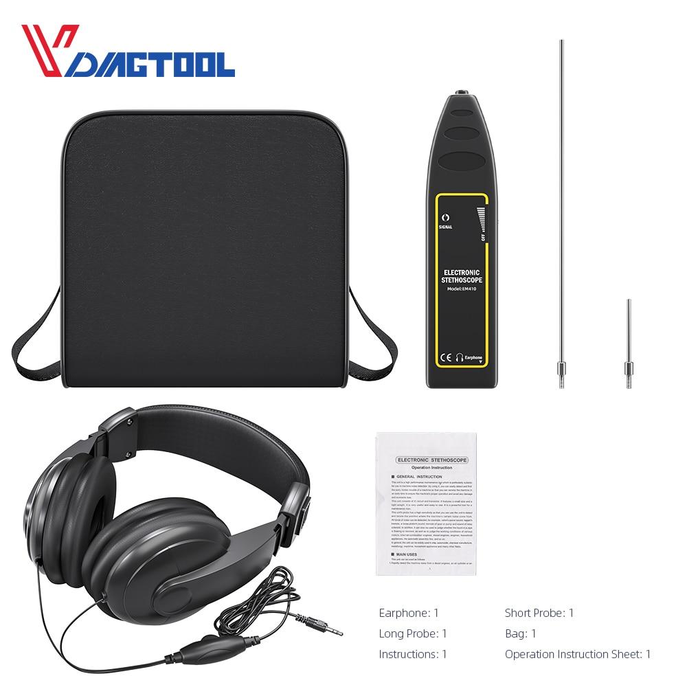 Vdiagtool Car Cylinder Stethoscope Auto Diagnostic Tool Engine Analyzer Machine Noise Tester Detector Electronic Stethoscope