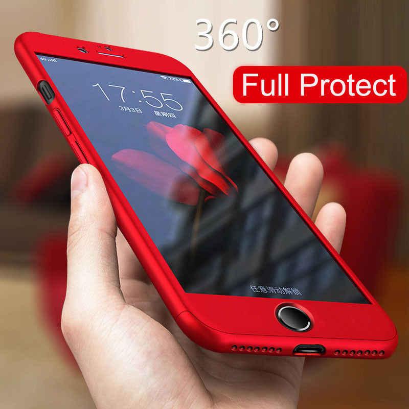 360 tam kapak telefon kılıfı için Huawei onur Y5 Y6 Y7 Y9 P akıllı Z Pro artı başbakan 2018 2019 temperli cam arka kapak kılıf