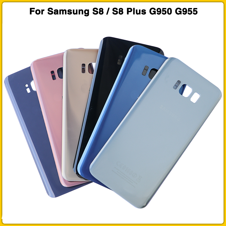 New S8 Battery Cover Case For Samsung S8 G950F G950 S8 Plus S8+ G955F Battery Back Cover Door Glass Chassis Shell