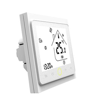 WiFi 3A programowalny termostat do indywidualnego ogrzewania kotłów gazowych wodnych współpracuje z Alexa Google Home Dry contact tanie i dobre opinie NONE CN (pochodzenie) Programmable Thermostat
