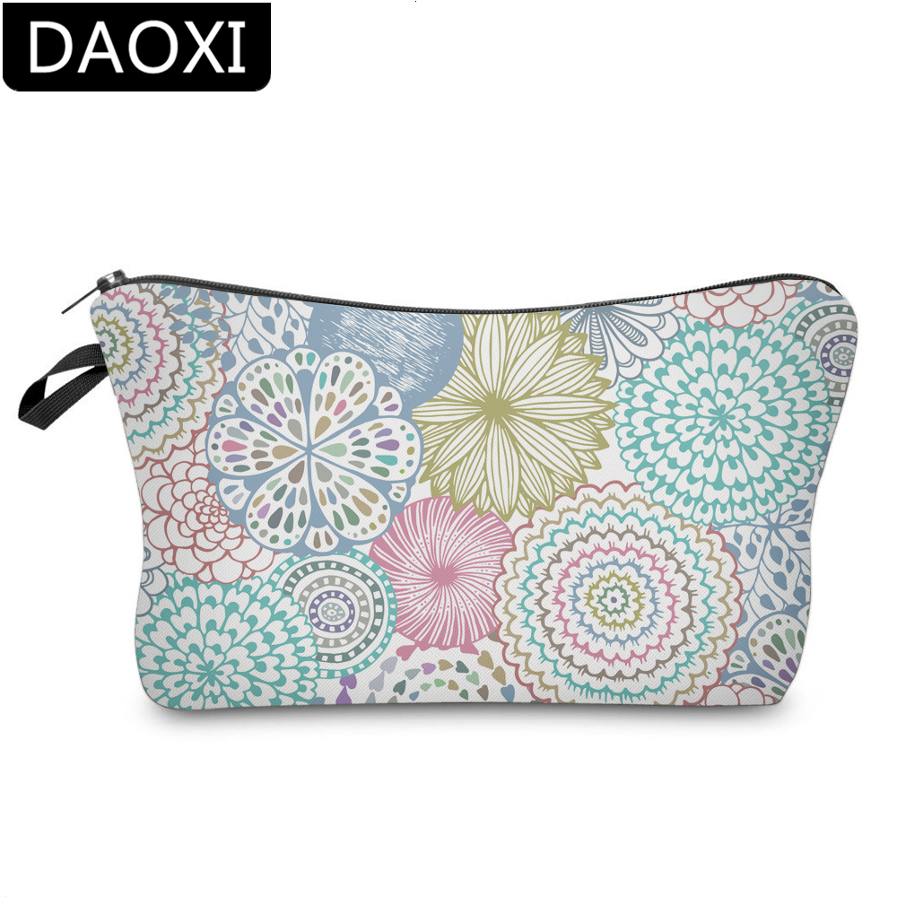 DAOXI Mandala Small Makeup Bag Fantastic Cosmetic Bags Storage Bag Girls Gift For Women Travelling DX51561