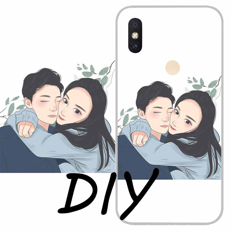 Custom Silicon Personalized Phone Case For Xiaomi Mi 5X 6X 8 9 SE DIY Case Xiaomi CC9 F1 Note 3 Mix2 Customized Design TPU Cover