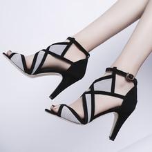 купить Women Summer Thin High Heels Sandals Open Toe Gladiator Sandals Casual Leisure 9cm Ultra High Heel Shoes Pumps дешево
