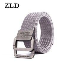 ZLD Equipment cintura uomo cinture tattiche in Nylon elastico per pantaloni Jeans cinturino solido tela doppio anello fibbia in metallo cintura in vita