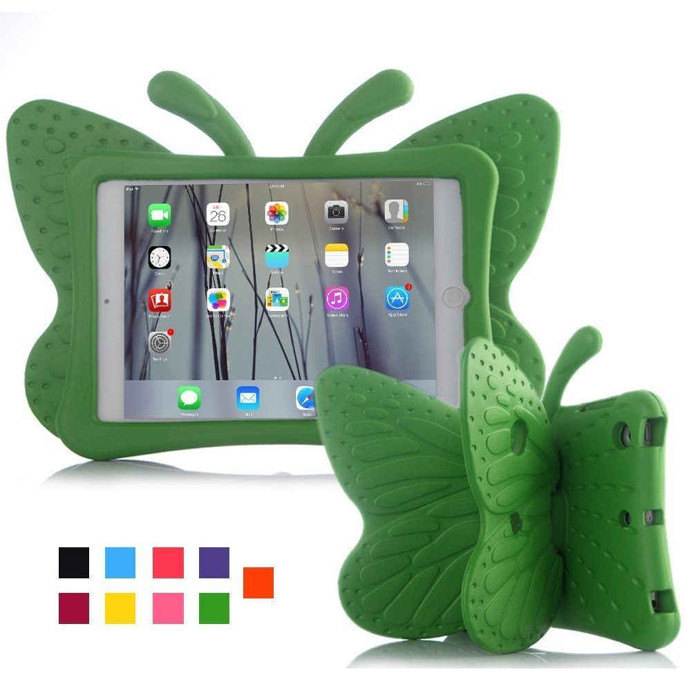 "4 2 3 Case for IPad Mini 1 2 3 7.9"" Cartoon Butterfly Stand Tablet Cover for IPad Mini 4 Kids Safe Cases EVA Shockproof Soft  Fashion (3)"