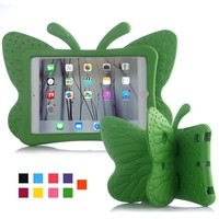 """case ipad Case for IPad Mini 1 2 3 7.9"""" Cartoon Butterfly Stand Tablet Cover for IPad Mini 4 Kids Safe Cases EVA Shockproof Soft  Fashion (3)"""