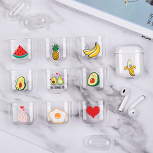 Case For Apple AirPods 2 Transparent Clear Earphone Box Air Pods Charging Hard PC Crystal Cover Airpods 1