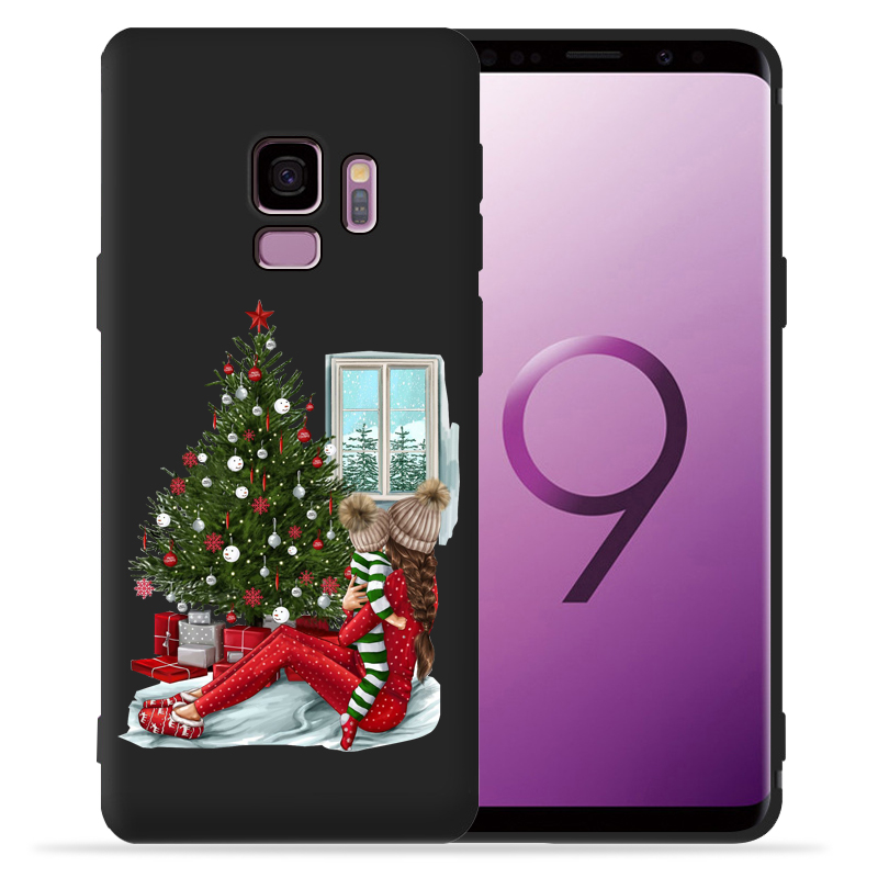 Family Mom Baby Father Girl Phone Case For Funda Samsung Galaxy S9 S8 S10 Plus S7 S6 Edge S10 Lite Note9 8 10 Pro Cover Etui