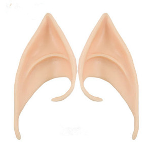 Image 1 - 1Pair Angel Elf Ears fairy Cos Mask Cosplay Accessories Latex Soft Prosthetic False Ear Halloween Party Masks