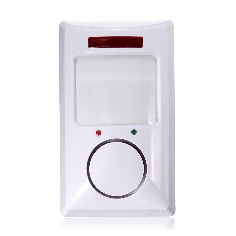 Güvenlik ve Koruma'ten Sensör ve Dedektör'de ABKT kablosuz IR hareket sensör dedektörü ve 2 uzaktan ev güvenlik hırsız alarmı sistemi beyaz title=