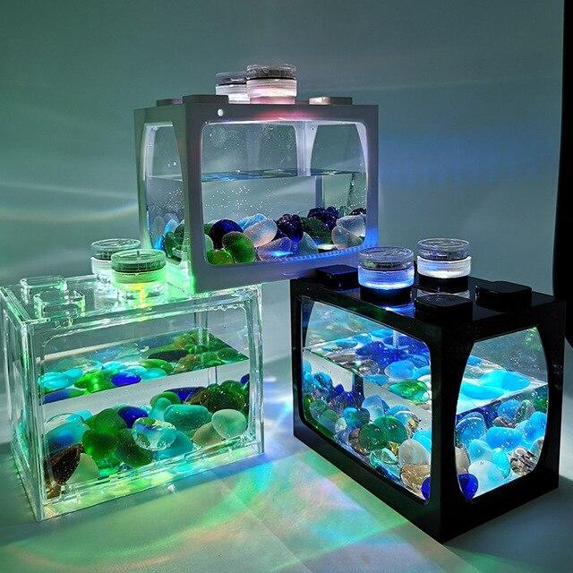 Mini Fish Tank For Desk Top Goldfish - Tetras - Bettas 2