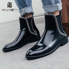 Prova perfetto rebite botas de tornozelo de fundo grosso feminino tubo curto botas de chelsea botas da motocicleta 2020 novas martin botas