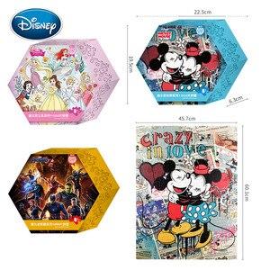 Disney 1000 шт., мультяшная головоломка Микки Марвел, Принцессы Диснея, для взрослых, декомпрессионная мозаика, плоская головоломка, игрушка, Шес...