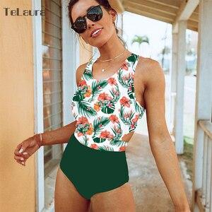 Сексуальный цельный купальник 2020 купальник женский Монокини боди бандажный купальник с высокой талией женские купальные костюмы Летняя Пляжная одежда