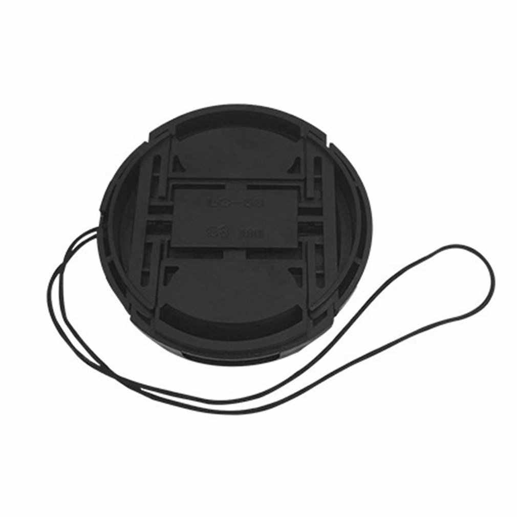 Profesional Tutup Pelindung Lensa untuk Canon/Nikon/Pentax/Sony ABS Tahan Debu Pelindung Lensa Kamera Penutup dengan Anti-Kehilangan Tali