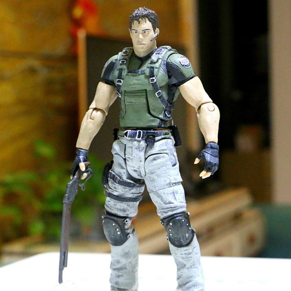 18cm 7inch NECA Reside Evil Character Chris Redfield Figure PVC Collectible Model Toys Action Figure