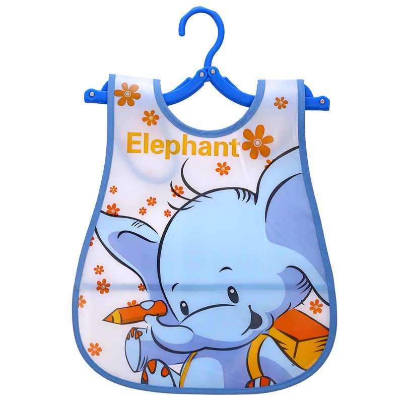1 stücke Tier Bib Einstellbar Baby Lätzchen Kunststoff Wasserdicht Mittagessen Fütterung Lätzchen Baby Cartoon Fütterung Tuch Kinder Baby Schürze De