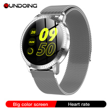 Rundoing smartwatch cf18 para homens e mulheres, smartwatch à prova d água ip67, rastreador de pressão sanguínea e múltiplos modos de esporte