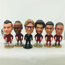 2.55 Salah Mane Gerrard Firmino Klopp Shaqiri Virgil Cartoon Doll Soccer Star Figurines