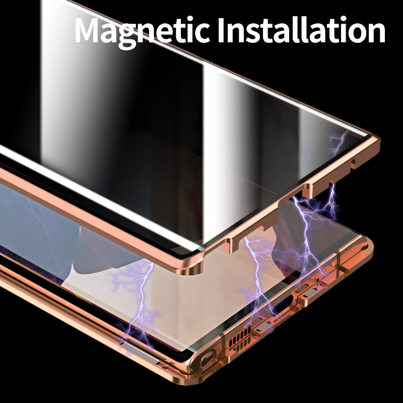 Magnetic Anti peeping privacy 360 case for Samsung Galaxy Note 20 Ultra case cover Funda Metal for Samsung Note20 phone Cases 1