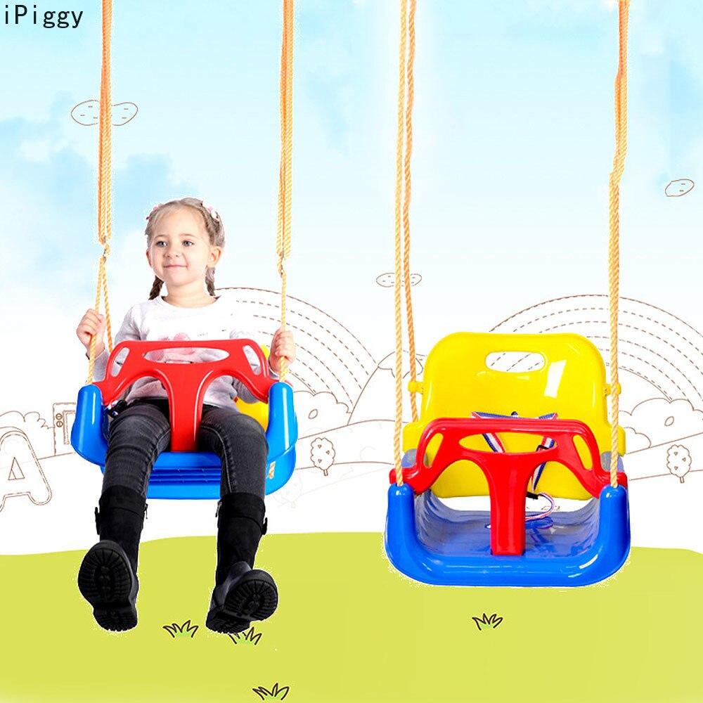 IPiggy 3 en 1 multifonctionnel bébé balançoire suspendu panier en plein air enfants jouet bébé balançoire jouet Patio balançoires