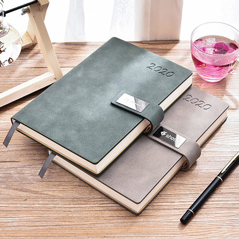 Agenda 2019 2020 Weekly Planner Traveler Diary Luxury Business PU Leather Notebook Back To School Notepad  Plan Organizer Books