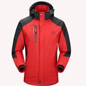 Image 4 - 5XL kurtka mężczyźni wodoodporna z kapturem oddychające męskie kurtki i płaszcze wiosna jesień znosić wiatrówka płaszcz mężczyzna odzież wojskowa