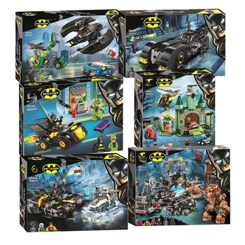 Super Heroes DC Batcaves Clayface Invasion Compatible With Block Batman 76122 Building Blocks For Kids Christmas Gift super heroes rabbit simpsons batman nightmare catman poison ivy march harriet harley quinn dick grayson buiding blocks kids toys
