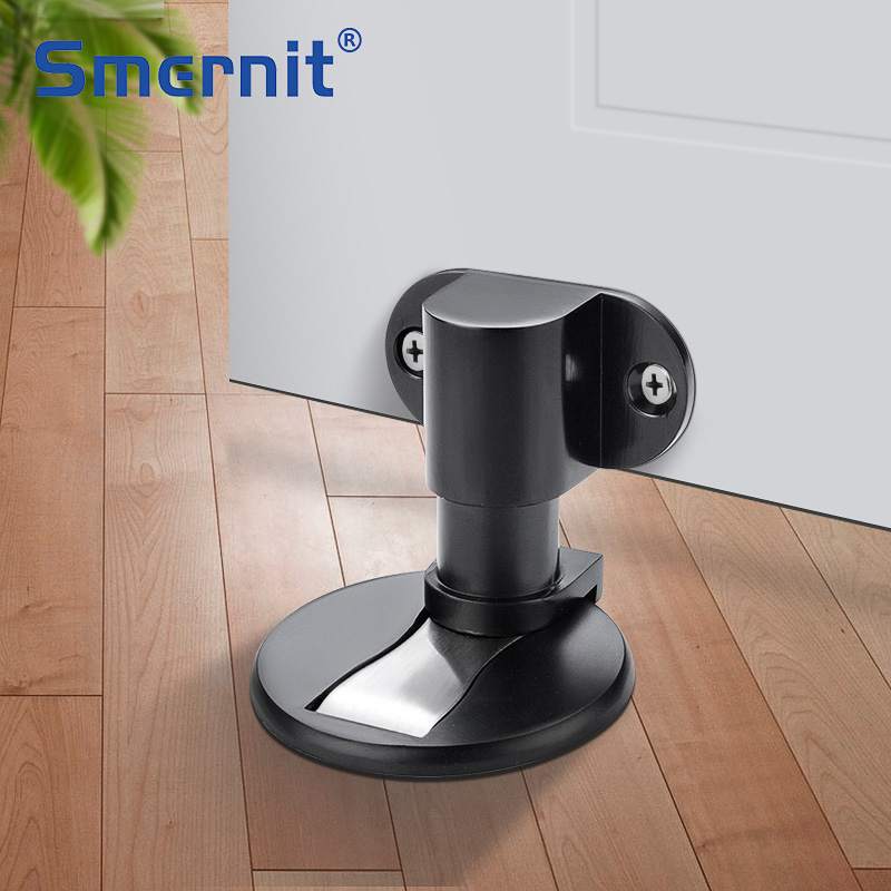 Adjustable Height Magnet Door Stopper Stainless Steel Door Stops Magnetic Door Holder Toilet Glass Doorstop Furniture Hardware