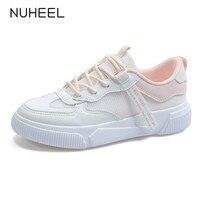 NUHEEL shoe women sneakers breathable women's casual shoes flat bottom vulcanized shoes women обувь женская