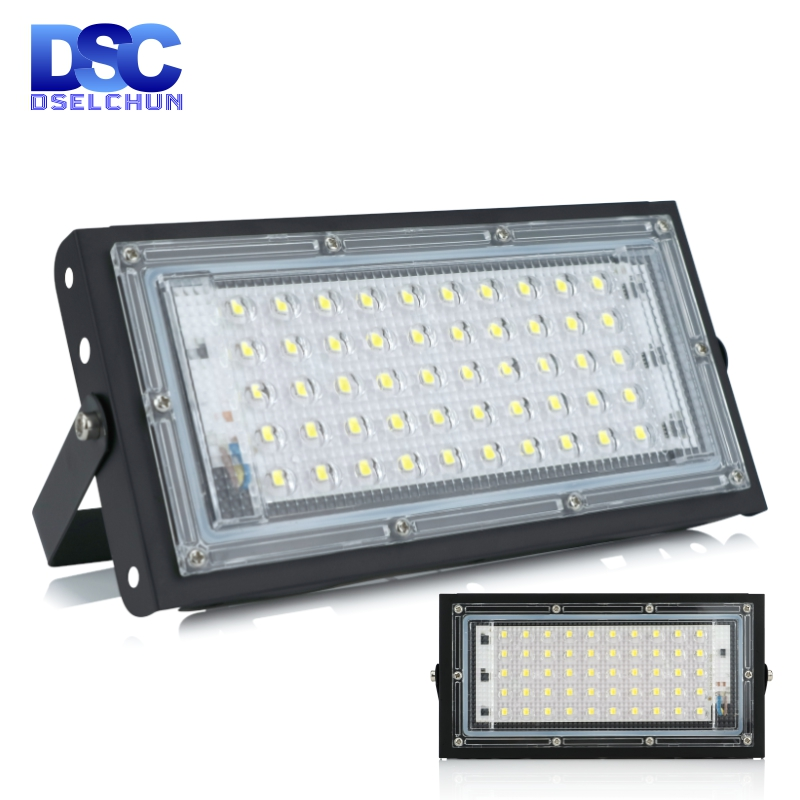 50W Led Flood Light AC 220V 230V 240V Outdoor Floodlight Spotlight IP65 Waterproof LED Street Lamp Landscape Lighting