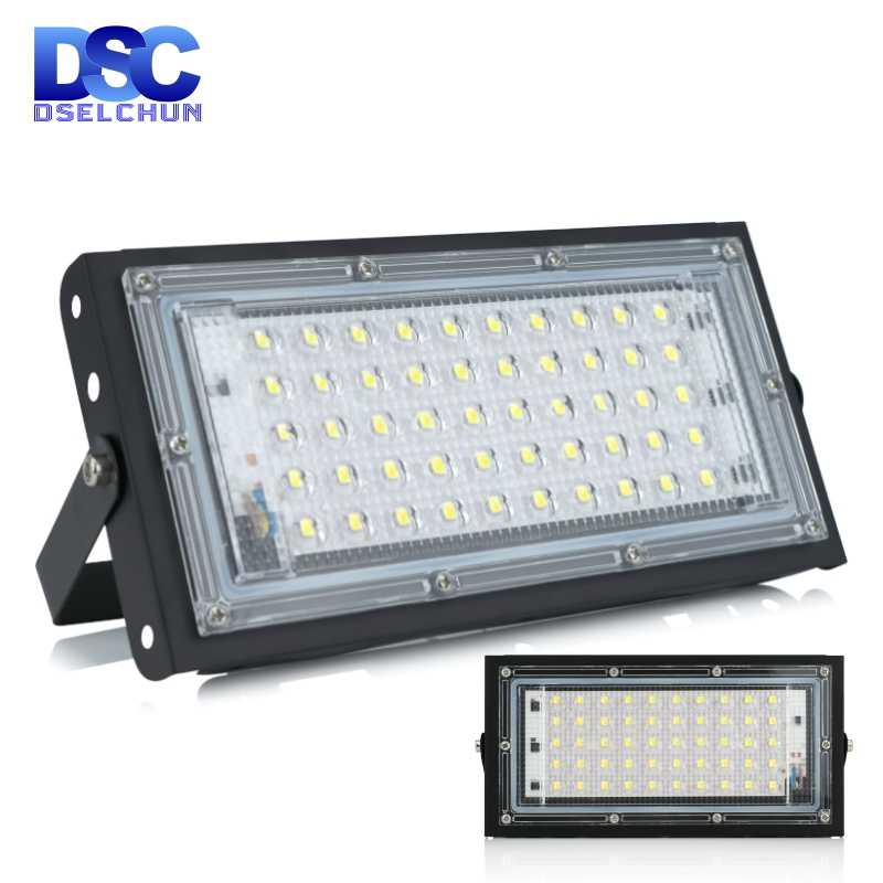 50W LED Banjir Cahaya AC 220V 230V 240V Lampu Sorot Outdoor Spotlight IP65 Tahan Air LED Lampu Jalan landscape Lighting