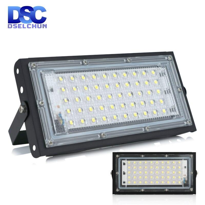50W Ha Condotto La Luce di Inondazione di Ca 220V 230V 240V Proiettore Esterno Del Riflettore di IP65 Impermeabile Lampada di Via Del Led illuminazione di Paesaggio