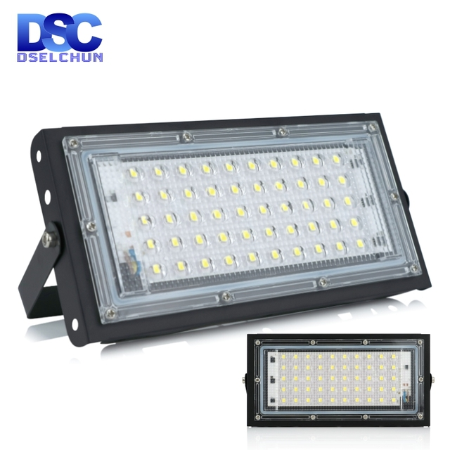 50W Led projektör AC 220V 230V 240V açık projektör spot IP65 su geçirmez LED sokak lambası peyzaj aydınlatma